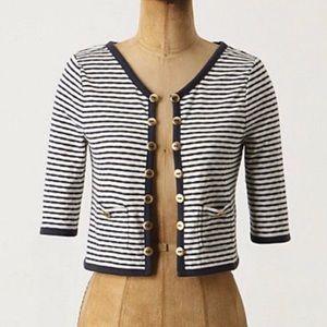 Anthropologie Pilcro M striped crop cardigan